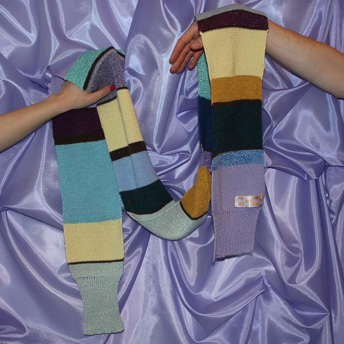 dunne sjaal handen